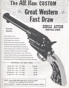 E&M's 1959 catalog ad for the Great Western Arms fast Draw Model.
