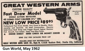 E&Ms Fast Draw model ad from 1962.