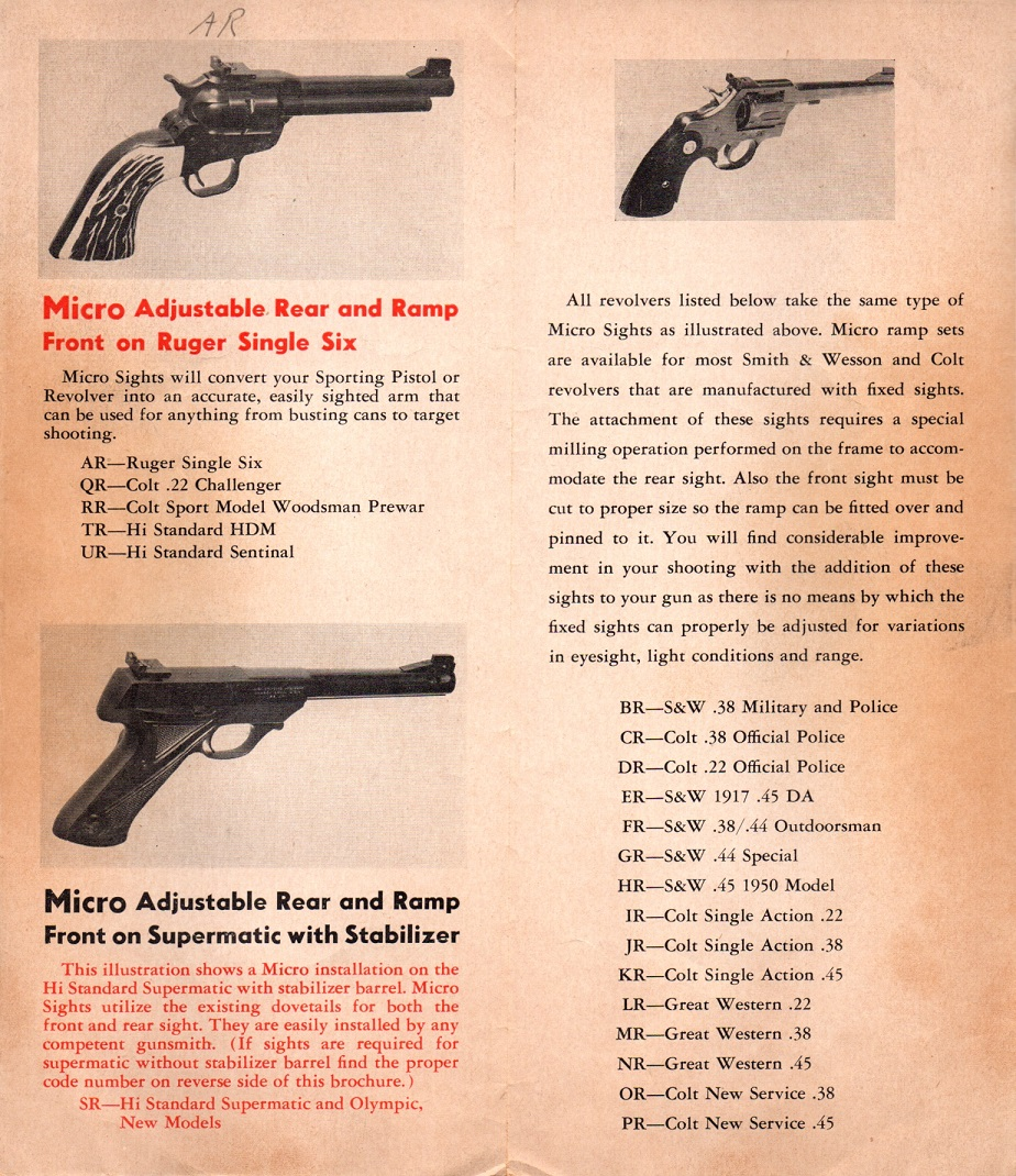 An original Micro Sight Co brochure