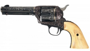 This .22 was engraved by Carl Courts, who did many of Great Western's 'factory' engraved guns.